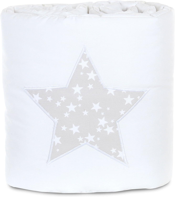 chichonera Protector de cuna Babybay color blanco azul azurblau Sterne wei/ß estrellas color azul para cunas de colecho Maxi y Boxspring