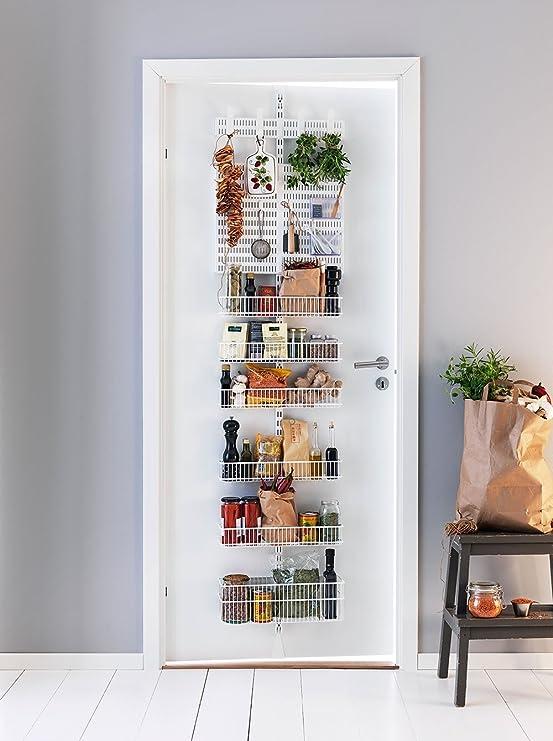 Elfa Tür und Wand Rack – Pantry Aufbewahrung weiß: Amazon.de: Küche ...