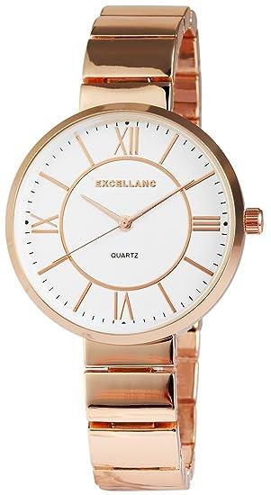 Reloj mujer Blanco Rosè Números Romanos Oro Metal Reloj de pulsera