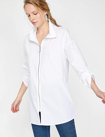 839a3de883e9d Koton Kadın Gömlek, Beyaz, Üretici Ölçüsü: 34