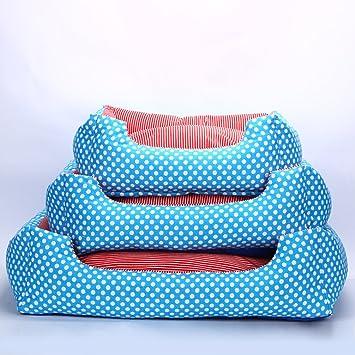 La Vie - Sofá cama para mascotas con diseño de lunares, suave y acogedor,
