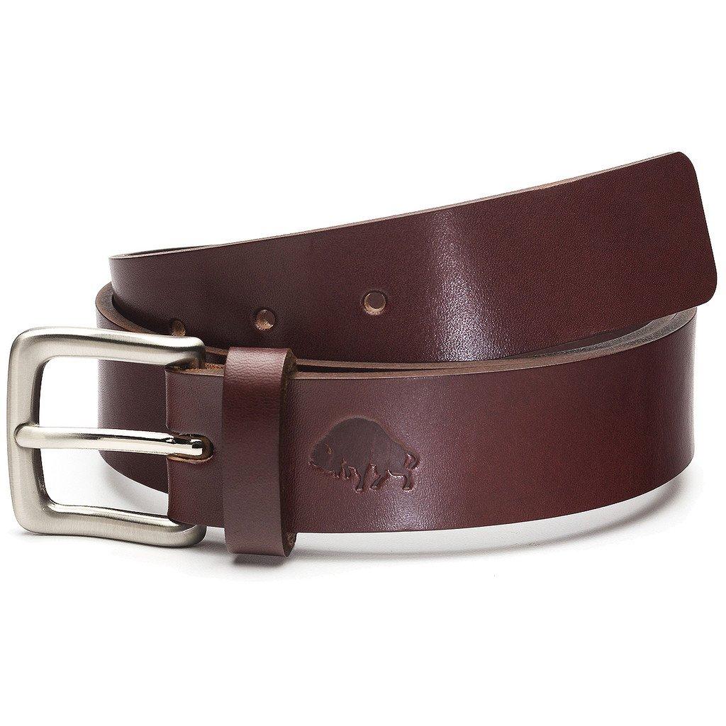 1 Belt Ezra Arthur No Burgundy//Nickel Buckle