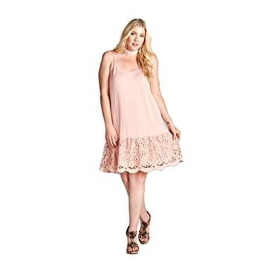 Oddi Womens Peach Plus Size Scalloped Lace Extender 1xl At Amazon