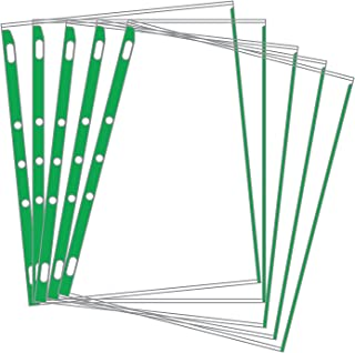 product image for EnvyPak Sheet Protectors Color-Coded Edges 8.5 X 11-3 Hole Punched - Pack of 100 (Green)