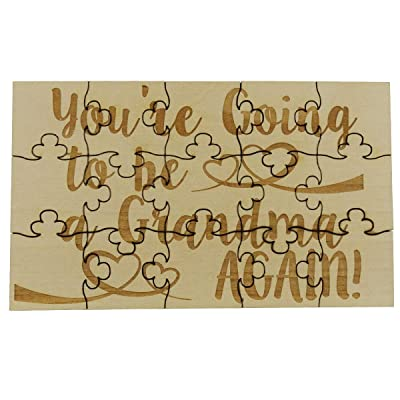 You're Going to Be a Grandma AGAIN - 15 Piece Basswood Jigsaw Puzzle, Surprise Pregnancy Announcement: Toys & Games