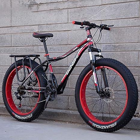 AISHFP Mens Fat Tire Bicicletas de montaña, la Playa de Moto de ...