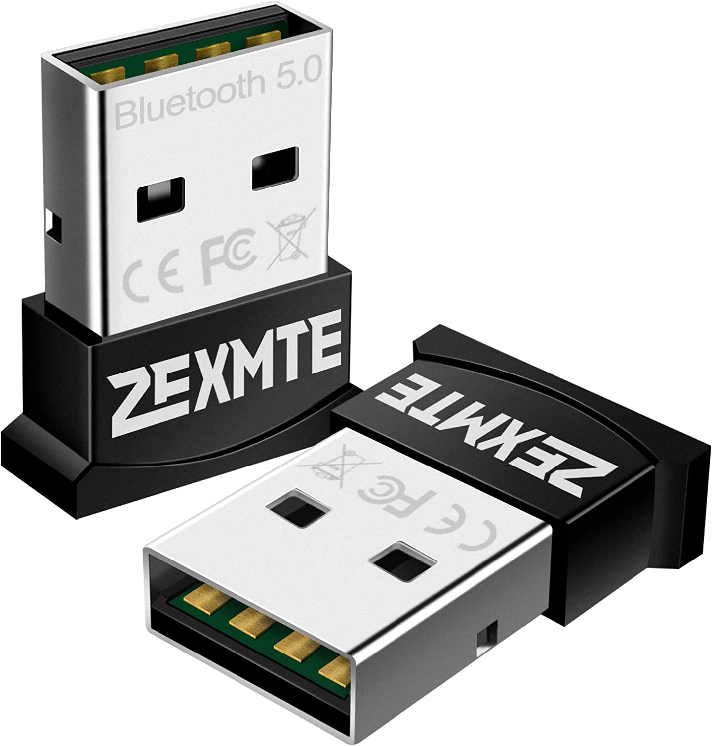 Amazon Com Zexmte Micro Usb Bluetooth Adapter For Pc Bluetooth 5 0 Usb Dongle Adapter Compatible With Pc Desktop And Computer With Windows 10 8 1 8 7 Vista Xp Computers Accessories