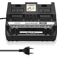 Powerextra Dual reserve-oplader compatibel met Bosch 14,4 V en 18 V Li Professional System accu's (één laadaansluiting…