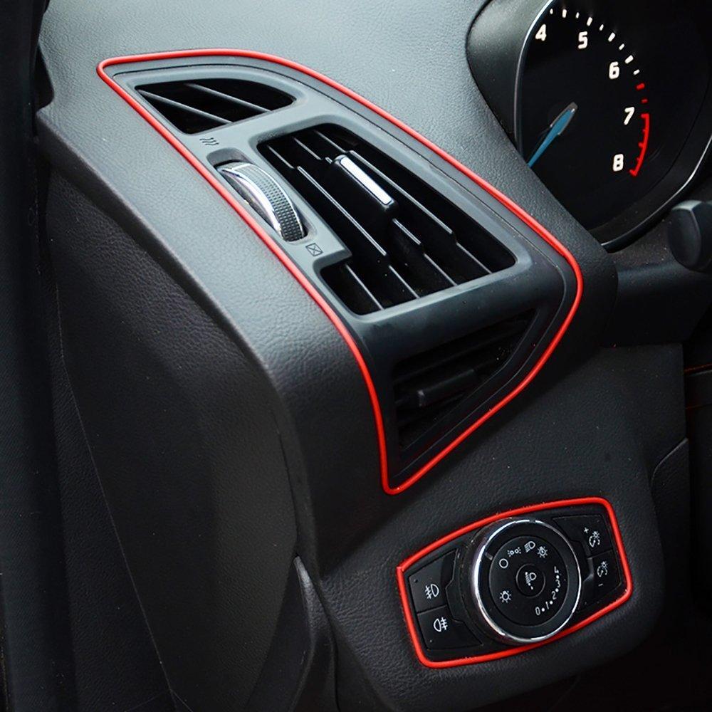 Tiras de molduras interiores para autos - AUTOMAN Tiras de molduras para autos de decoración de 32 pies con herramienta de instalación Guarnición de ...