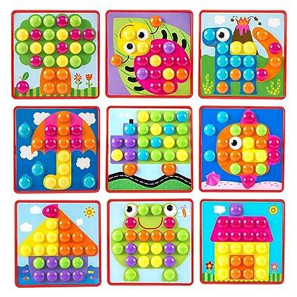 Juguetes Jannyshop Botón De Arte Niños Mosaicos Para Tablero tBdCQhsrx