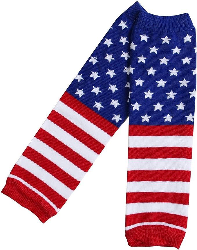 Rush Dance American USA Patriotic Stars with Ruffles Baby//Toddler Leg Warmers