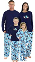 SleepytimePjs Family Matching Winter Penguin Fleece Pajamas PJs Sets for The Family