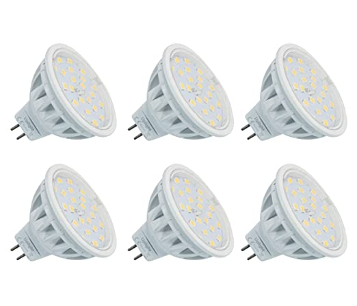 MR16 LED GU5.3 Bombillas Equivalente 60W Halógena Blanco Natural 4000K AC/DC12V 600LM