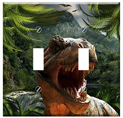 Switch Plate Double Toggle Tyrannosaurus Rex Dinosaur Reptile Jurassic Park