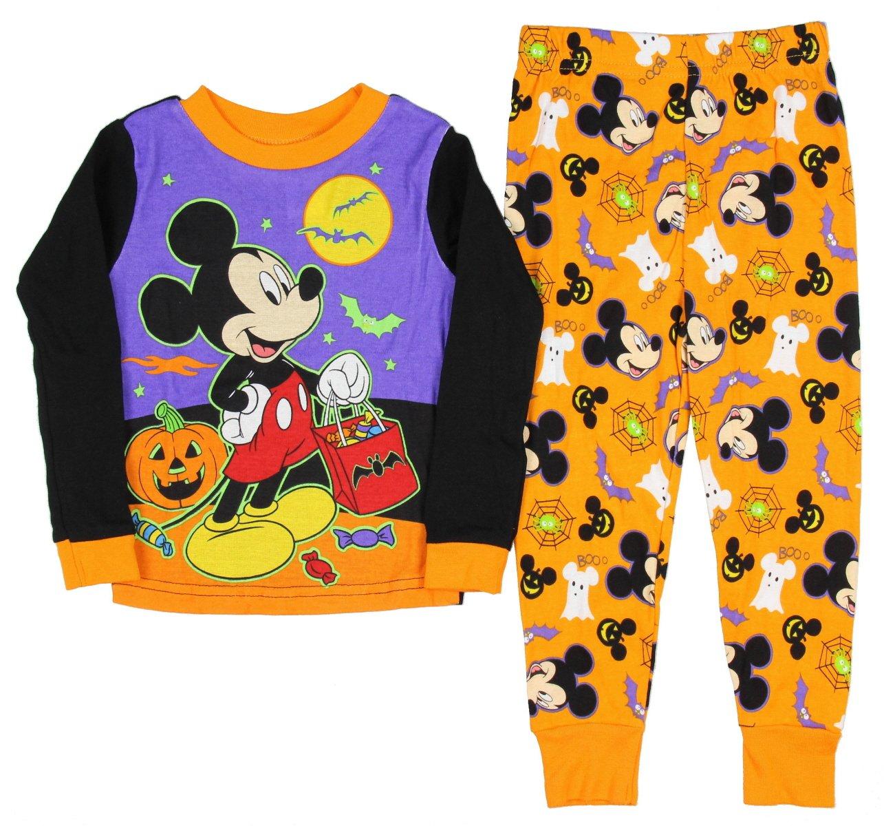 Disney Toddler Boys' Mickey Mouse 2-Piece Fleece Pajama Set