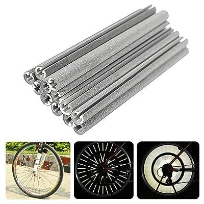 12x Chytaii Réflecteur Roue de Vélo Rayon de Jante Bicyclette Bande d'Avertissement