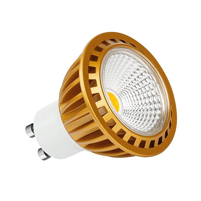 7 W COB GU10 LED bombillas, warm white, GU10, 7.00 wattsW 230.00 voltsV: Amazon.es: Iluminación