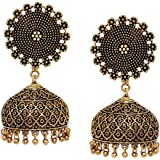 V L IMPEX Fashion Gold Plated Jhumki Earrings For Women