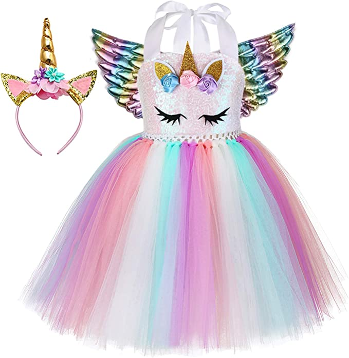 Amazon.com: Tutu Dreams - Vestido de unicornio de ...