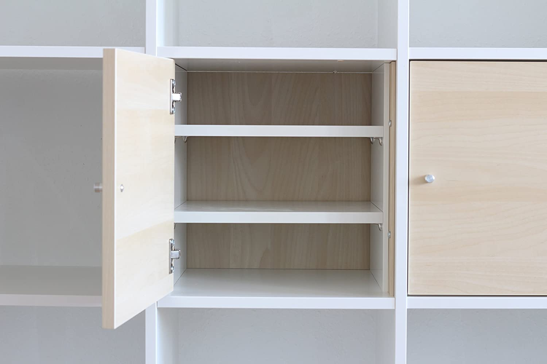 inwona compartimento adicional para Ikea Kallax Puerta Uso/con 2 estantes,/Extra para formar estantería estante/Estable estantes ajustables/100% IKEA de muebles compatible/más Repisa en Kallax.: Amazon.es: Juguetes y juegos