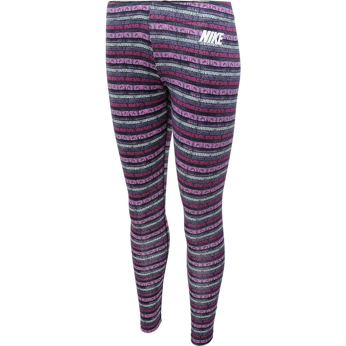 TALLA XS. Nike Leg-A-See-AOP - Mallas para Mujer, Color Morado