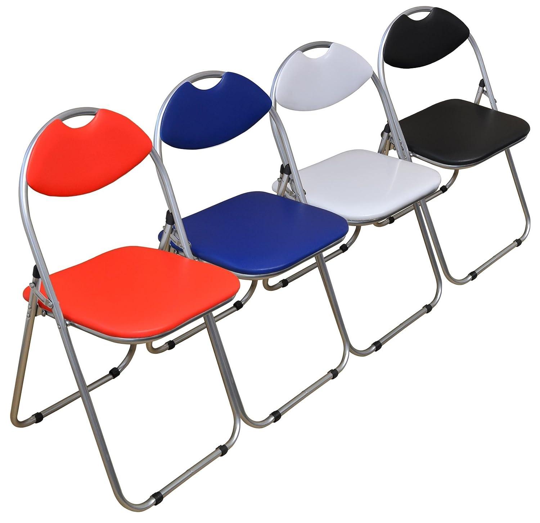 Harbour Housewares Black Padded Folding Desk Chair Pack of 6