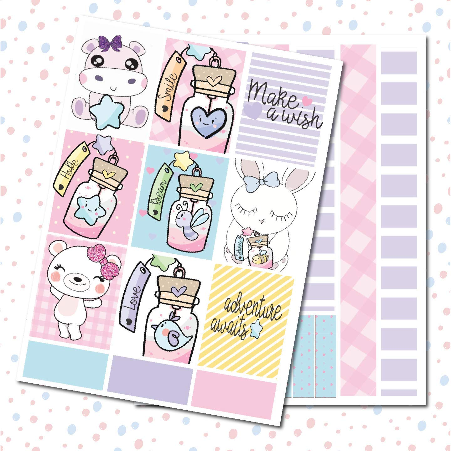 Student Life Planner Sticker Kit Message In A Bottle on matte removable sticker paper.
