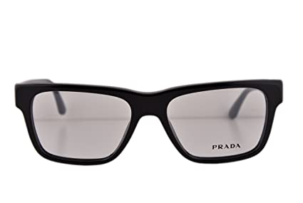 6fbfd8deba6 Image Unavailable. Image not available for. Color  Prada PR16RV Eyeglasses  53-16-140 Black w Demo Clear Lens ...
