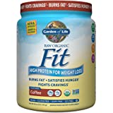 Garden of Life Organic Meal Replacement - Raw Organic Fit Powder, Coffee - High Protein for Weight Loss (28g) Plus Fiber, Probiotics & Svetol, Organic & Non-GMO Vegan Nutritional Shake, 10 Servings