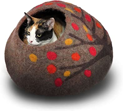 Amazon.com: Lana gato cueva y cama – Eco cueva de Kitty ...