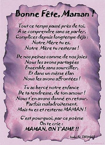 Poème Bonne Fête Notre Maman Tout Ce Temps Passé Prés De Toi