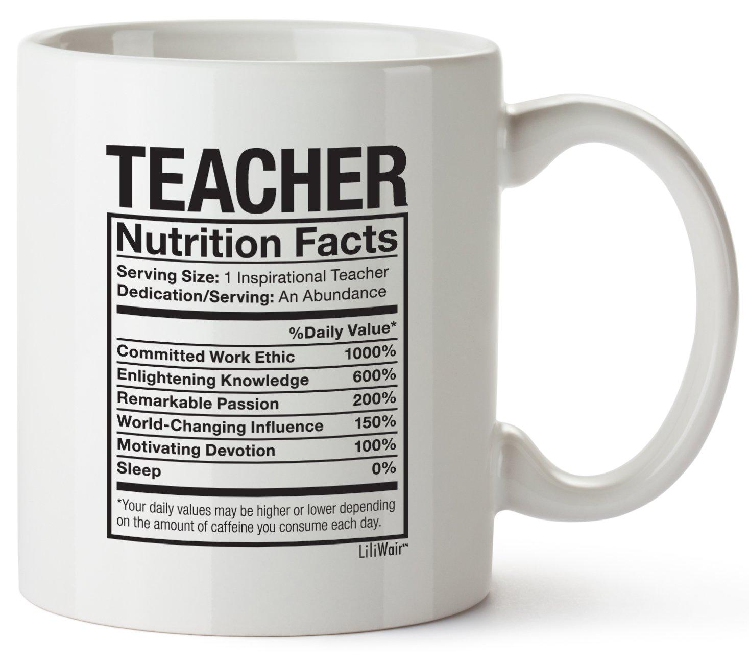 Teacher Appreciation Gifts Day Gift Boyfriend Girlfriend Coffee Mug Cup Funny Gift for Spanish Math Drama English Special Education Music History Science Kinder Garden Elementary Teachers