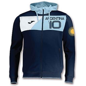 Joma - Sudadera con cremallera y capucha para hombre - Argentina 10 Custom Printing KiarenzaFD: Amazon.es: Deportes y aire libre