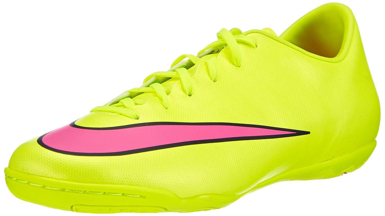 Nike Mercurial Victory V IC Herren Fuszlig;ballschuhe  45 EU Gelb (Volt/Hyper Pink-black 760)