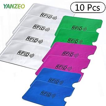 Yanzeo - Tarjeta de crédito con protección RFID, 13,56 MHz ...