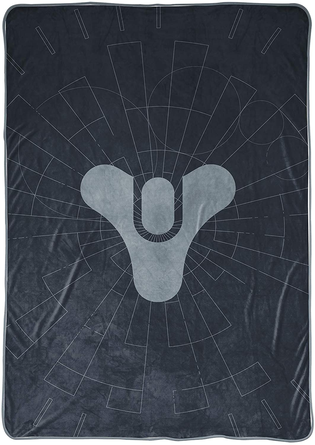 Measures 60 x 90 inches Fade Resistant Super Soft Fleece Official Destiny Product Bedding Jay Franco Destiny Tricorn Blanket