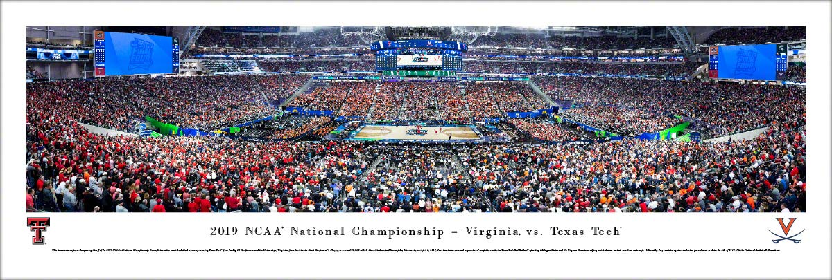 2019 NCAA Basketball Championship - Virginia vs Texas Tech - Unframed Poster by Blakeway Panoramas by Blakeway Worldwide Panoramas