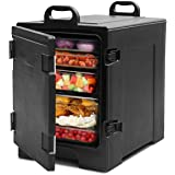 COSTWAY End-Loading Insulated Food Pan Carrier, 5 Full-Size Pan, 81 Quart Capacity, Food-grade LLDPE Material, Portable…