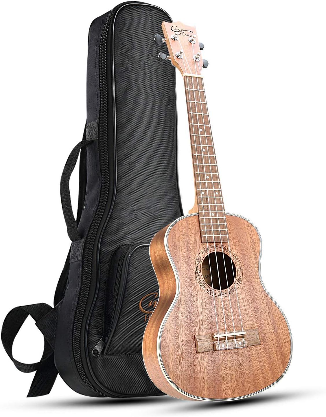 Hricane Tenor Ukulele UKS-3 26inch Professional Ukulele Starter Small Guitar Hawaiian Guitar Bundle with Gig Bag