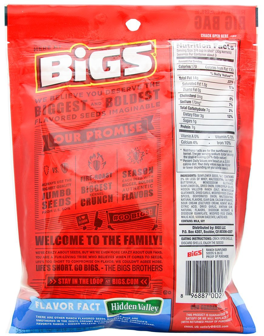 Bigs Sunflower Seed Flavor Variety Pack 9 bags (5.35oz each) with Bonus Magnet by BIGS (Image #8)