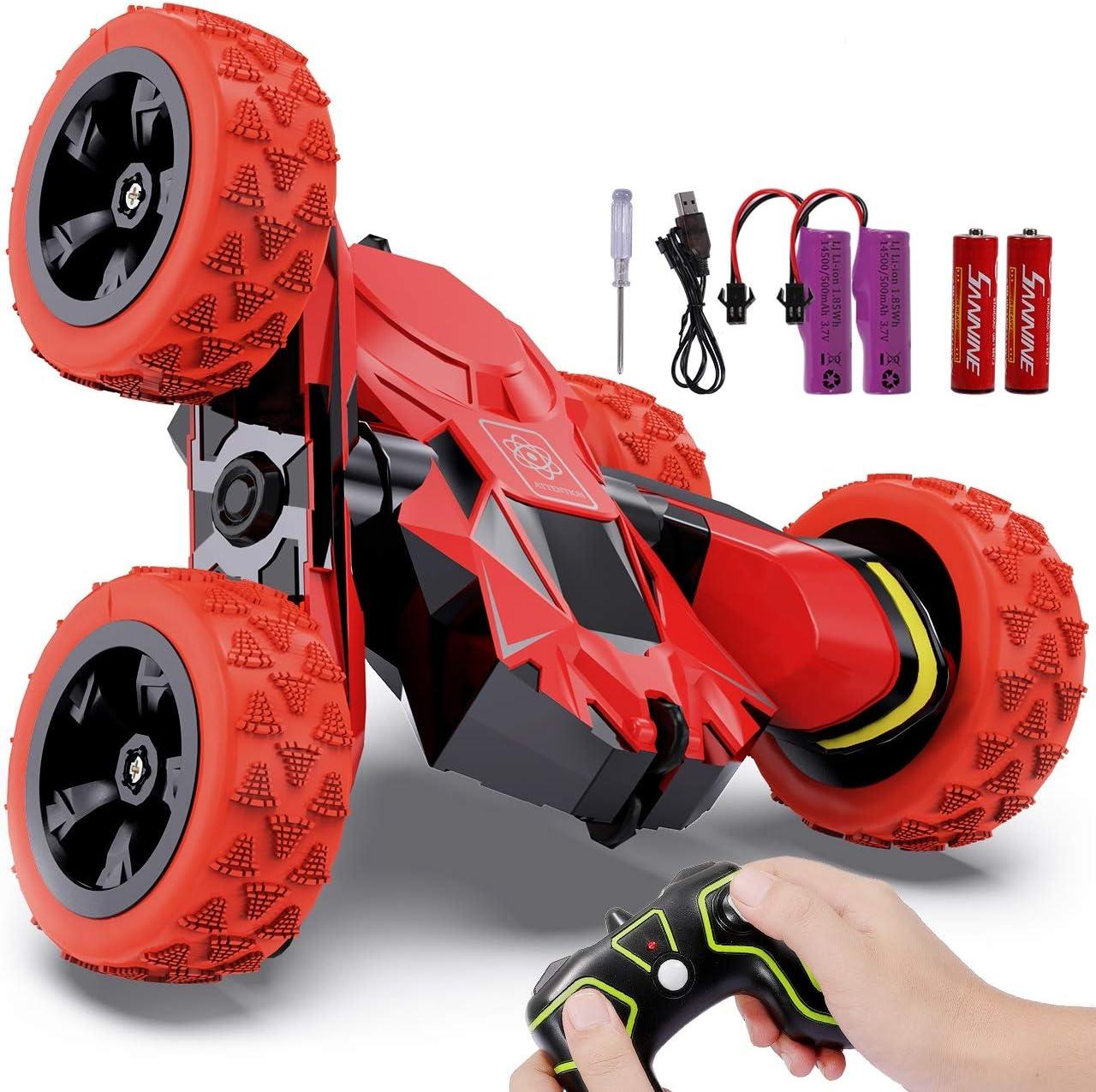 joylink Coche Teledirigido, 2.4 GHz Coche de Control Remoto 4WD Stunt RC Coche Acrobacia Rotación Volteo de 360 ° Radiocontrol Electric Juguetes para Niños