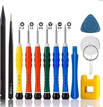 Qiaoyou iphone destornilladores kit, herramientas destornillador desmontar reparacion desmontaje movil, para iphone xs xr x 8