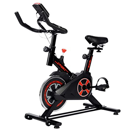 Livebest Indoor Cycling Bike Stationary Bicycle,Belt Driven Exercise Bike with LED Display for Home Gym Cardio Training Fitness Workout Equipment