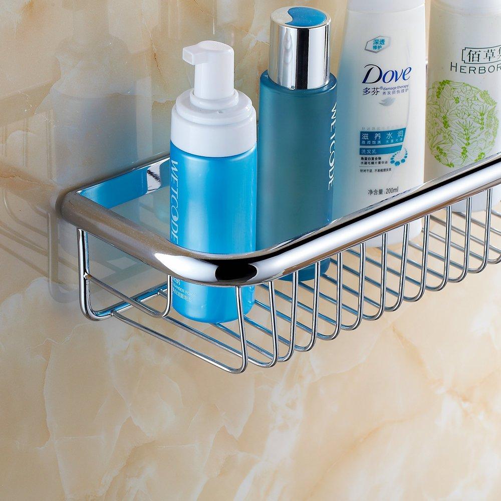Beelee Badezimmer Regal Wandregale Duschkorb aus Messing mit Seifenablagebereich
