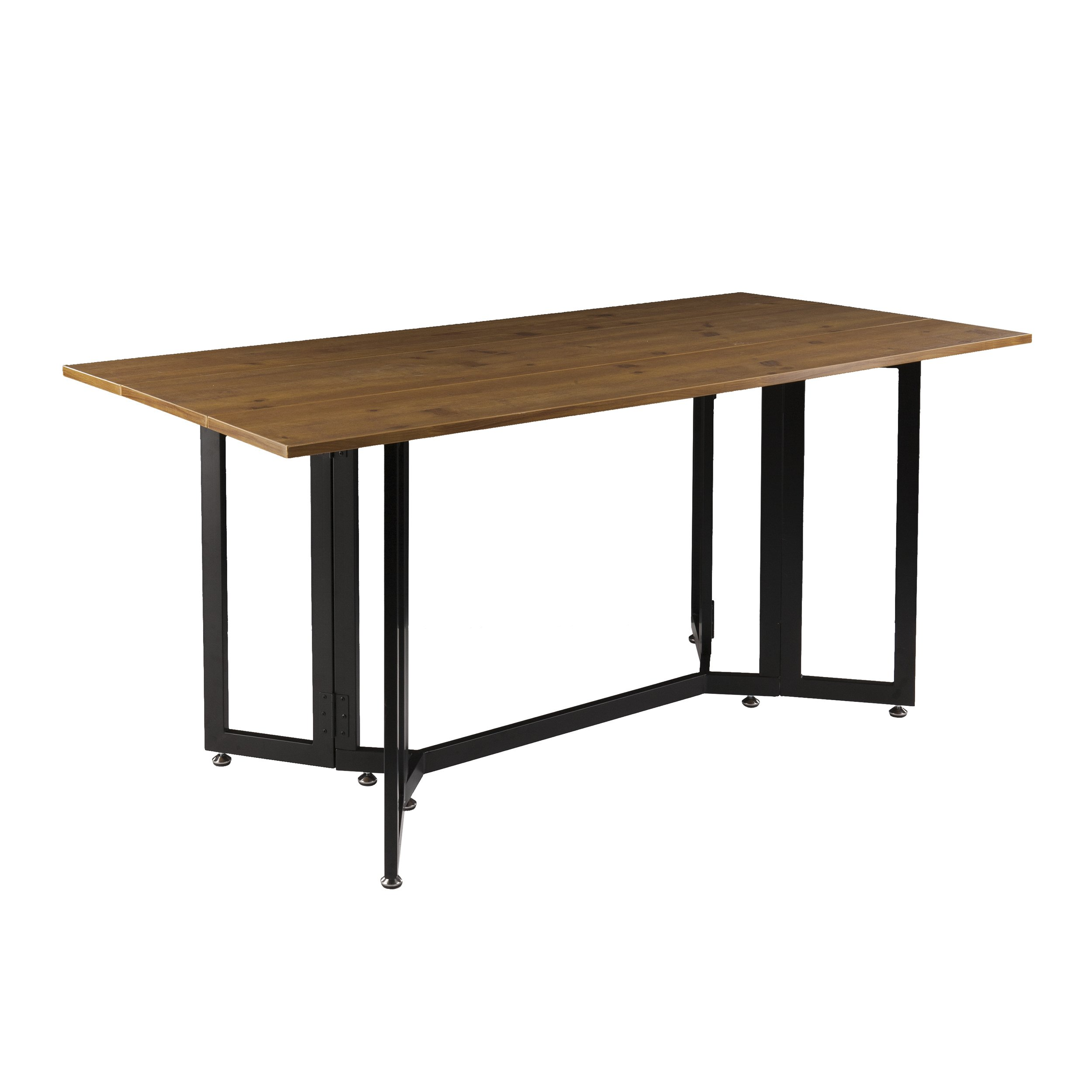 Holly & Martin Driness Drop Leaf Console Dining Table, Weathered Oak Finish with Black Metal Base by Holly & Martin (Image #4)