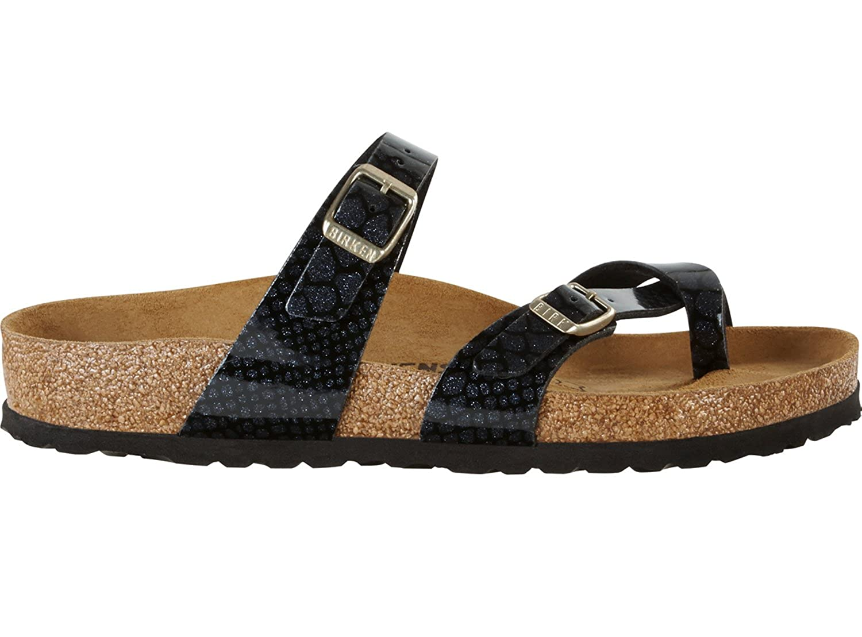 205e2ab6da32 Amazon.com   Birkenstock Mayari Birko-Flor Narrow Magic Snake Black Size EU  37 - US L6 M4   Sandals