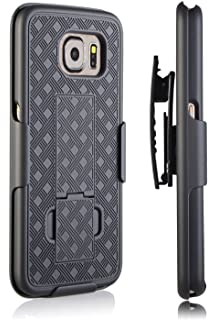 S6 Case, Moona Shell Holster Combo Case for Samsung Galaxy S6 Case with Kick-