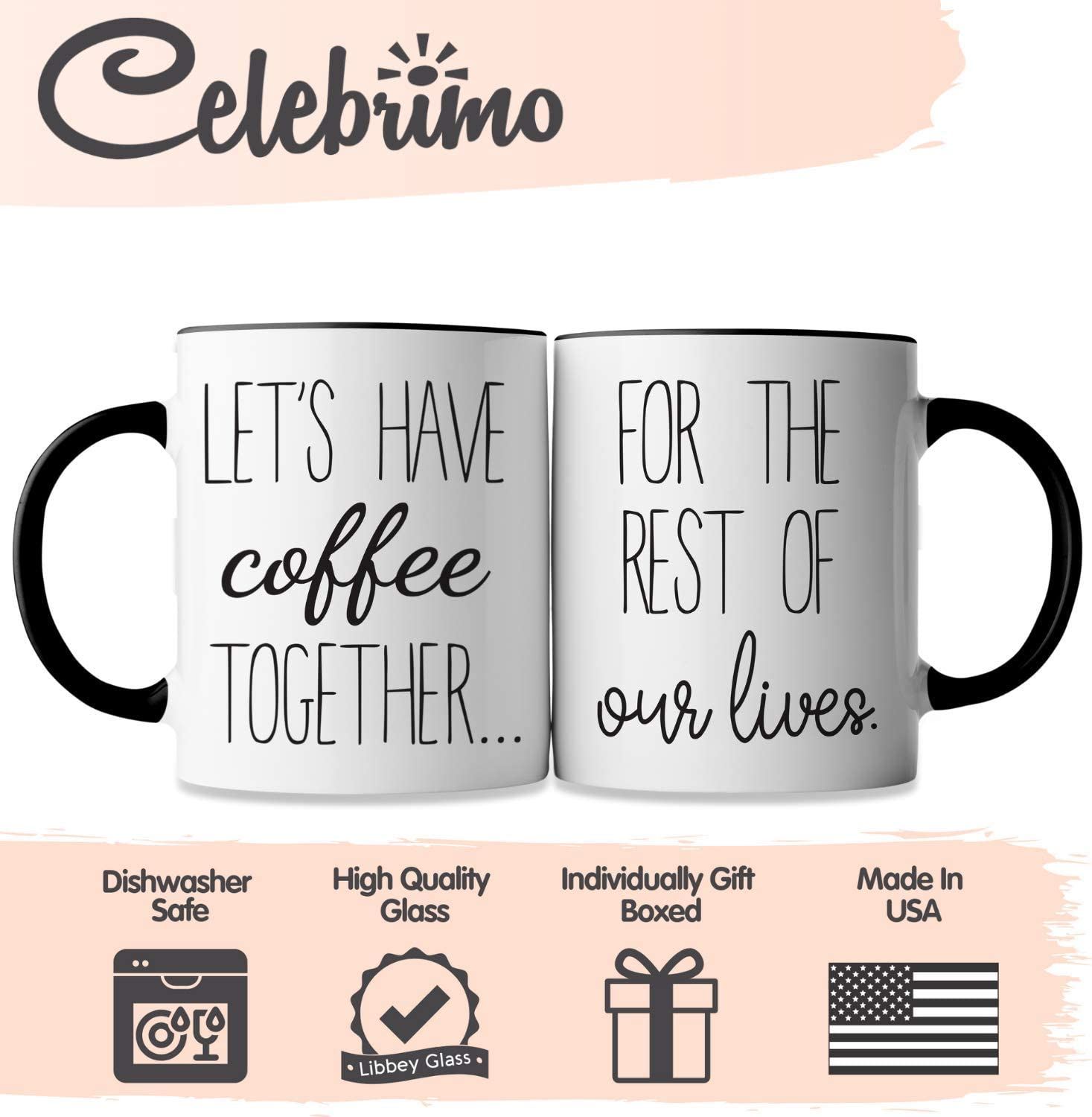 Let/'s Have Coffee Together For The Rest Of Our Lives Mug Set Couples Mugs