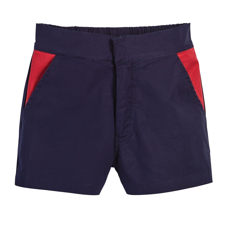 Beachcombers Nautical Love Linen/Cotton Girl's Shorts Navy Large