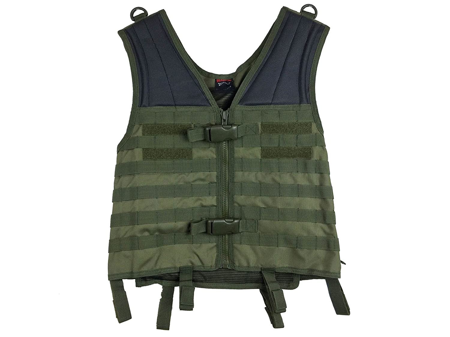 Adjustable Sizing MAddog Tactical Molle Modular Utility Vest with Breathable Mesh Liner and Heavy Duty Zipper